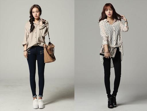 Quần jean và áo sơ mi